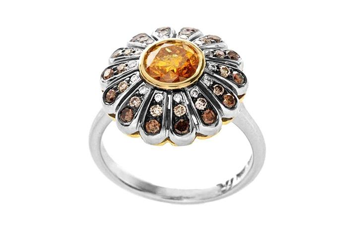 The Urchin Ring - Diamond & Gold Ring