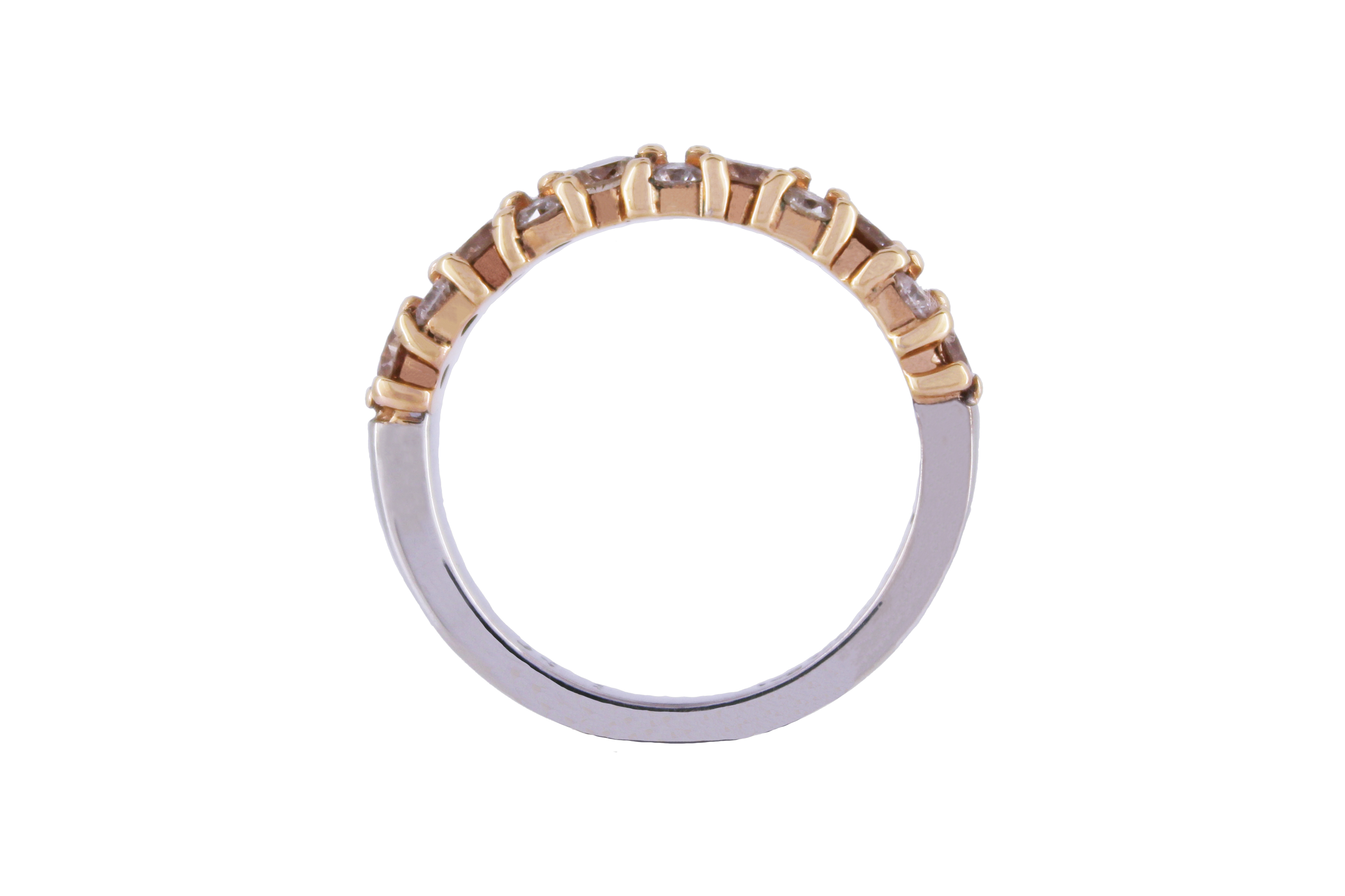 Diamond Cluster Band in 9ct Rose Gold