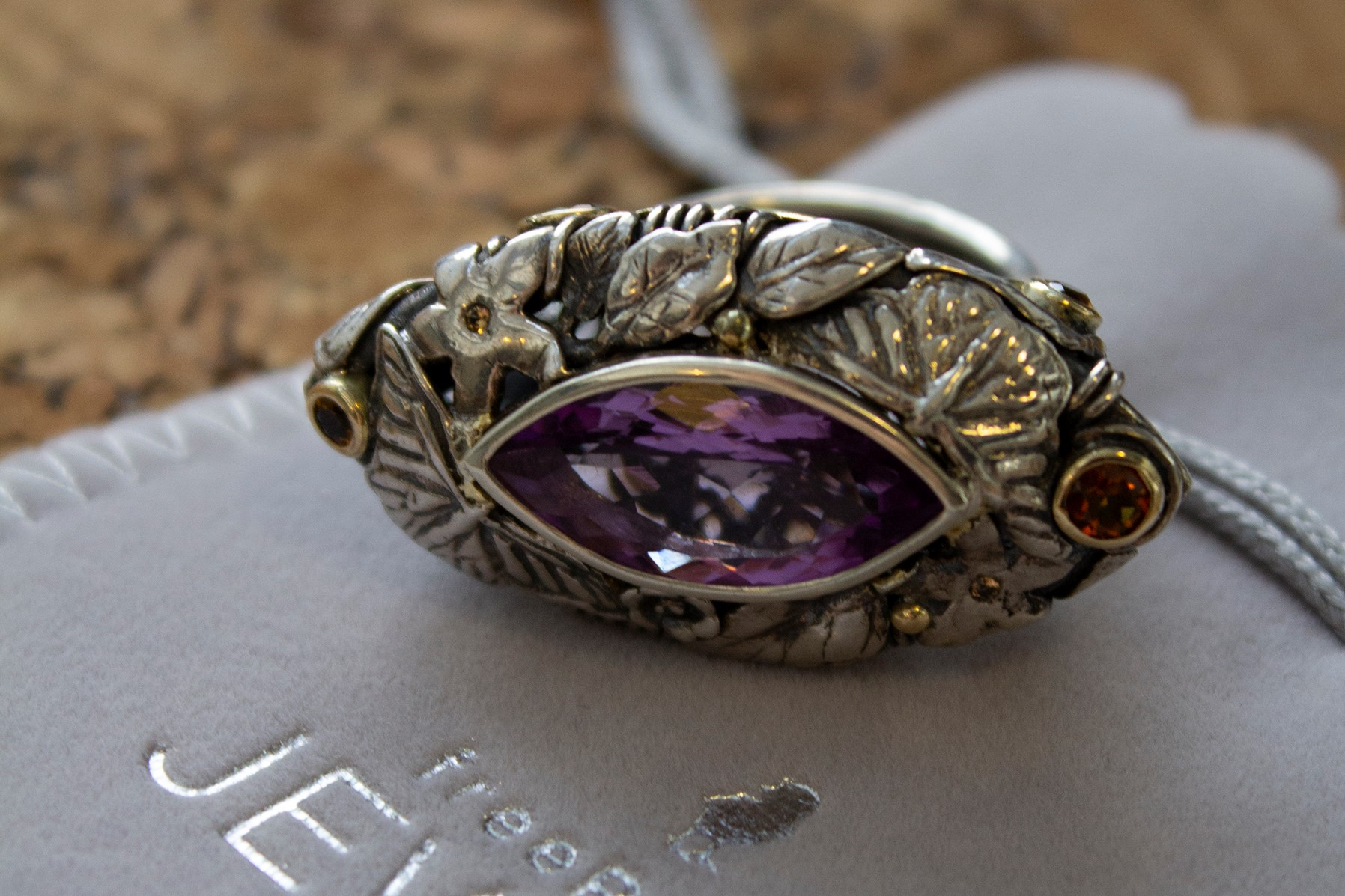 Silver & 9ct Yellow Gold Amethyst Showstopper