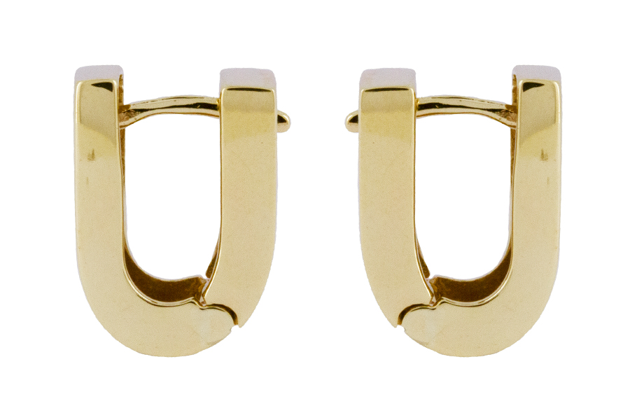Square Huggies in 9ct Yellow Gold