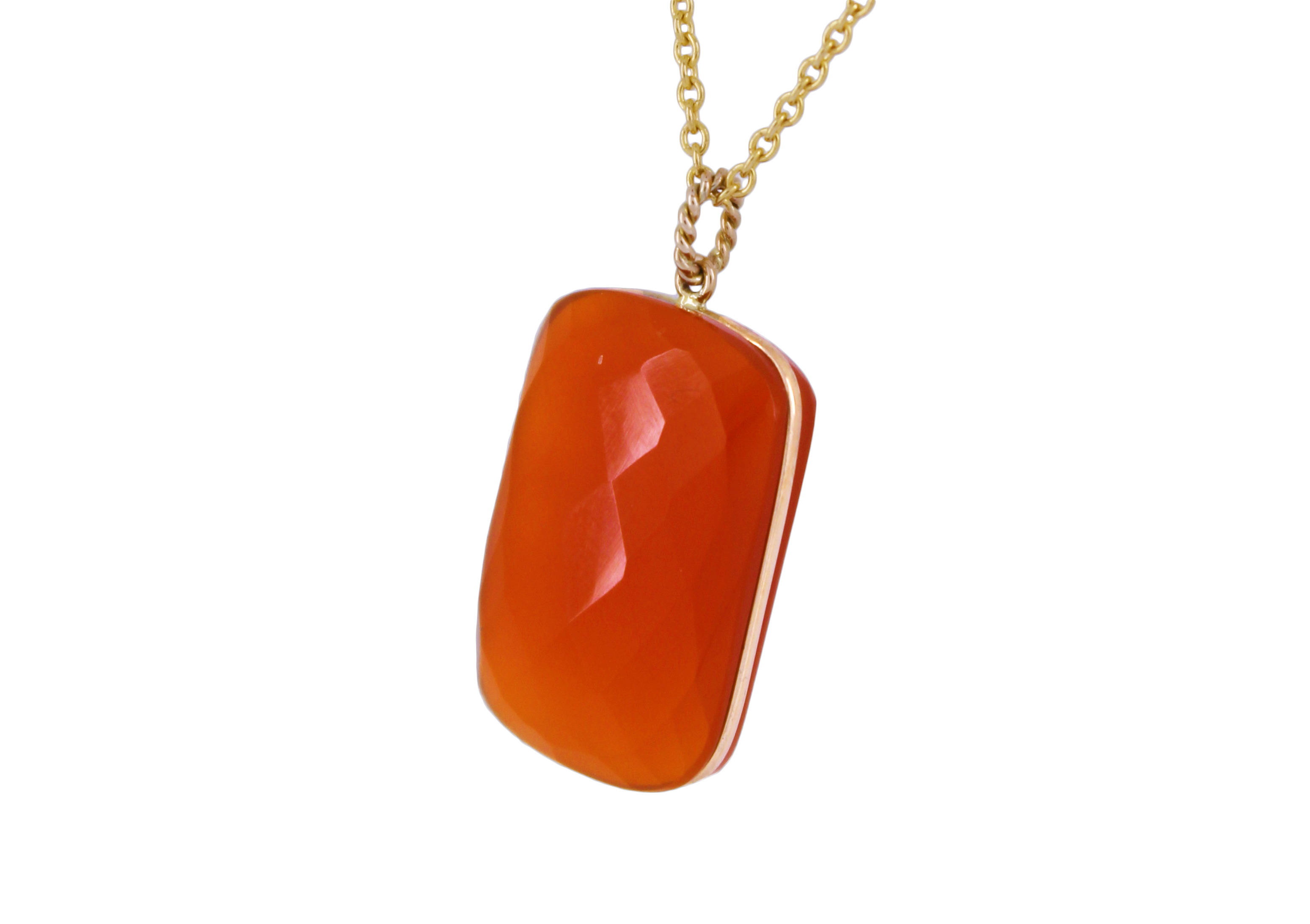 CARNELIAN Slab with 9ct Yellow Gold detail
