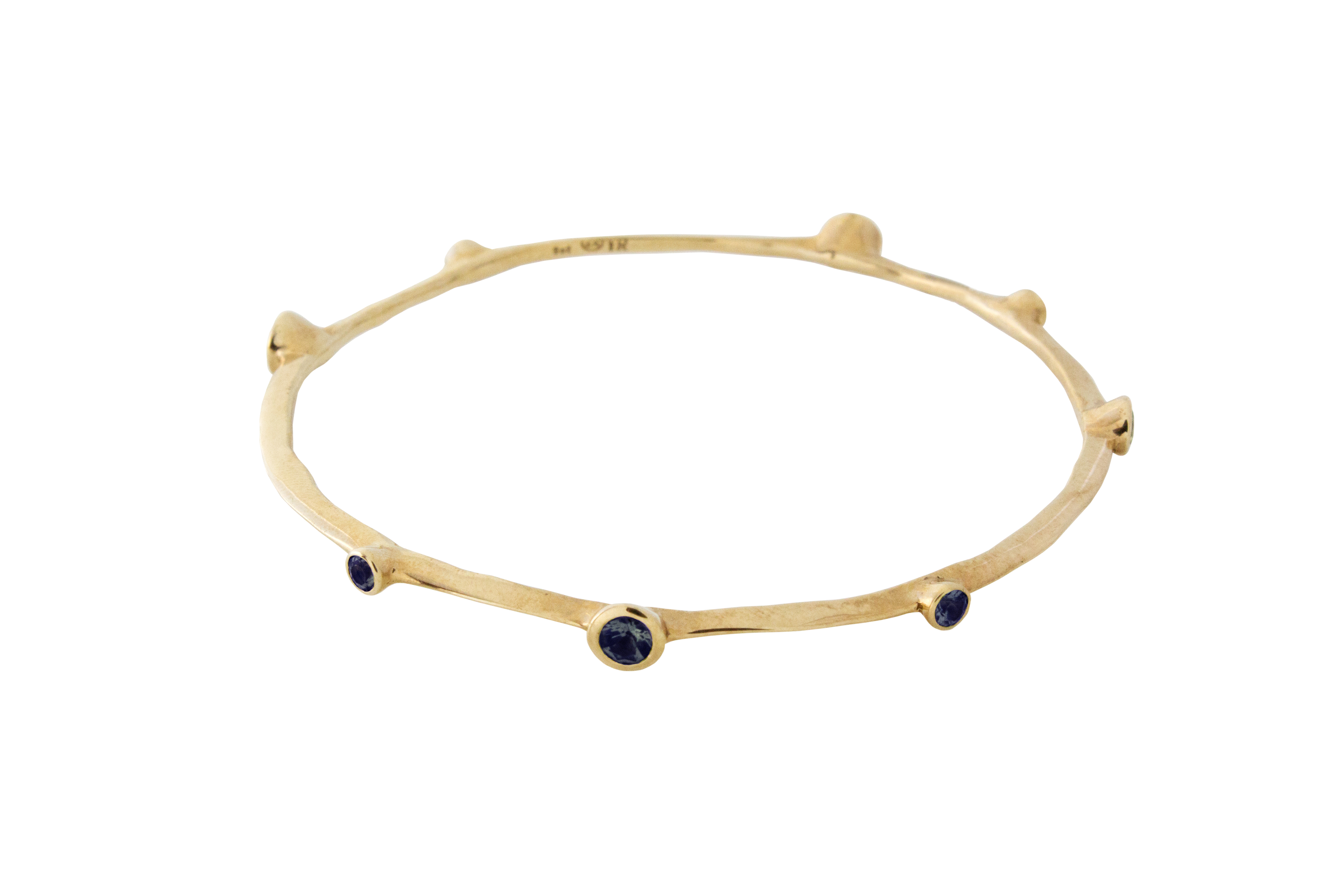 Iolite Bangle in 9ct Yellow Gold