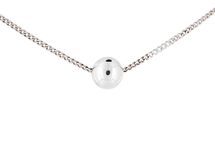 Silver Ball Pendant and Chain