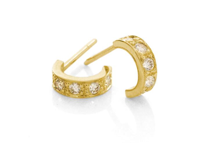 18ct Yellow Gold and Diamond Rondelle Earrings