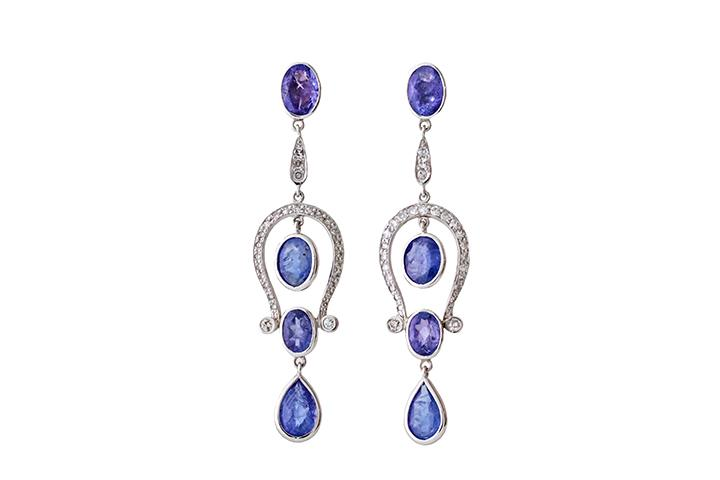 Calypso Tanzanite chandelier earrings