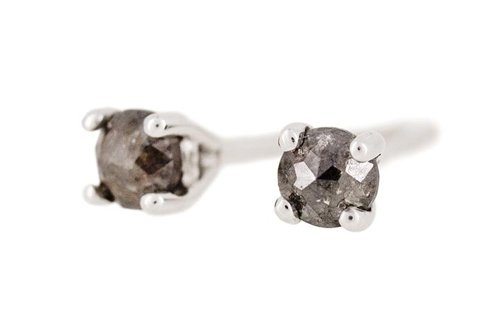 9ct White Gold and Black Diamond Studs