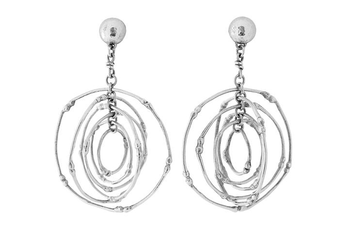 Silver Twiggy Earrings