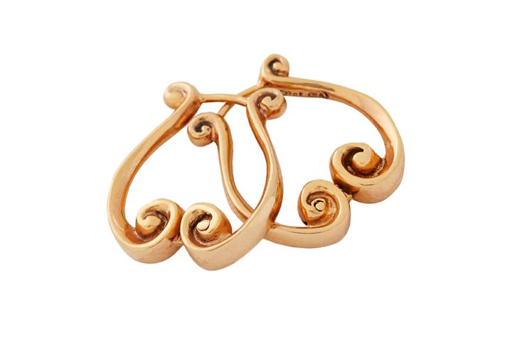 Rose Gold Athena Earrings