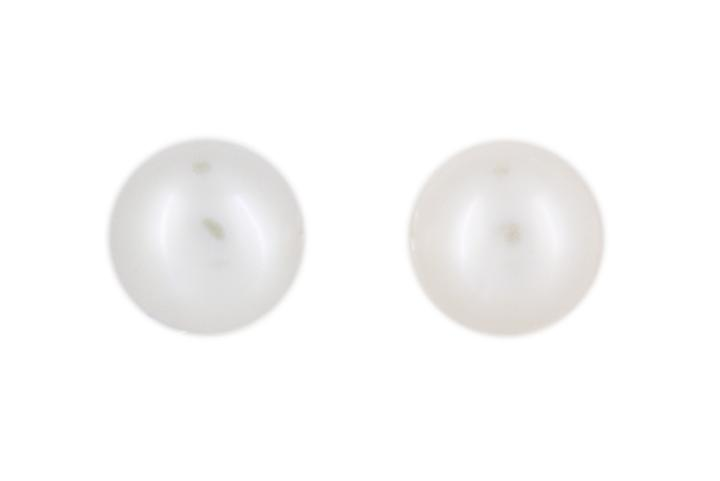 Fresh Water Pearl Studs (large) with Silver Posts and Butterflies