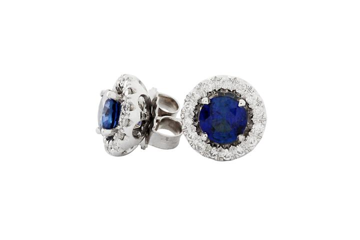 Sapphire & Diamond Jackets in 18ct White Gold