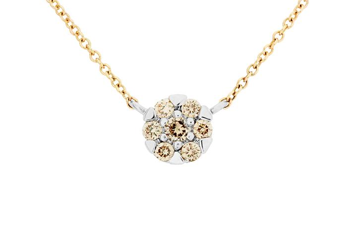 9ct Yellow Gold and White Gold Diamond Glitz Necklace