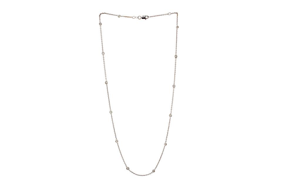 Diamond 18ct White gold Mitzvah necklace