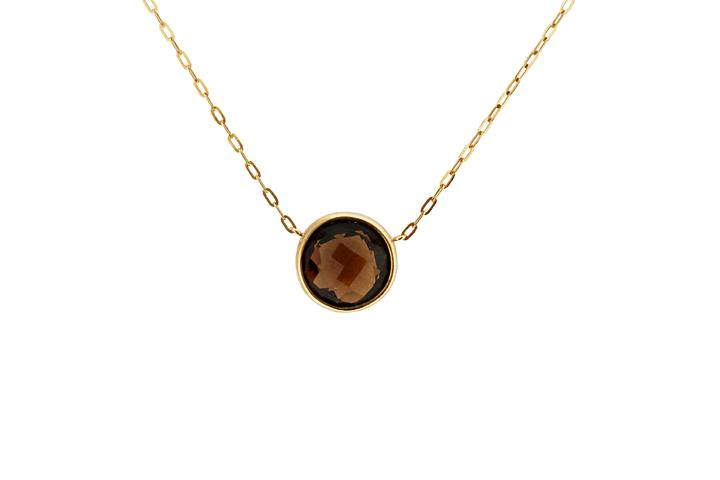 Yellow Gold Brandy Citrine Necklace