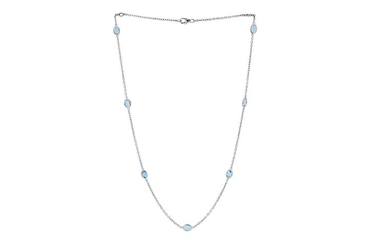 Silver Aquamarine Mitzvah necklace