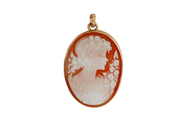 9ct Rose gold Cameo Pendant (large)