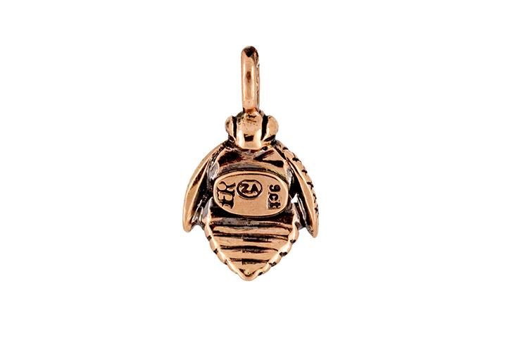 African honey bee pendant in 9ct rose gold aloadofball Image collections