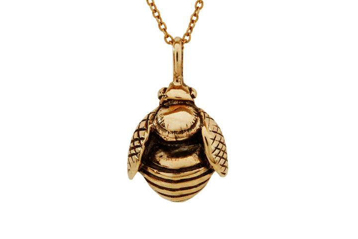 Rose gold African Honey Bee pendant