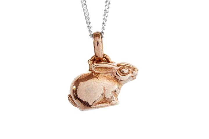 Gilded Silver Riverine Rabbit pendant