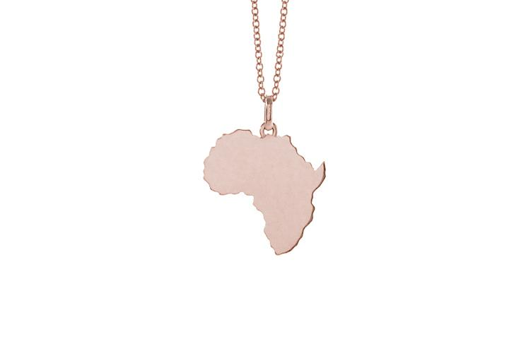Africa Pendant in 9ct Rose Gold (sml)