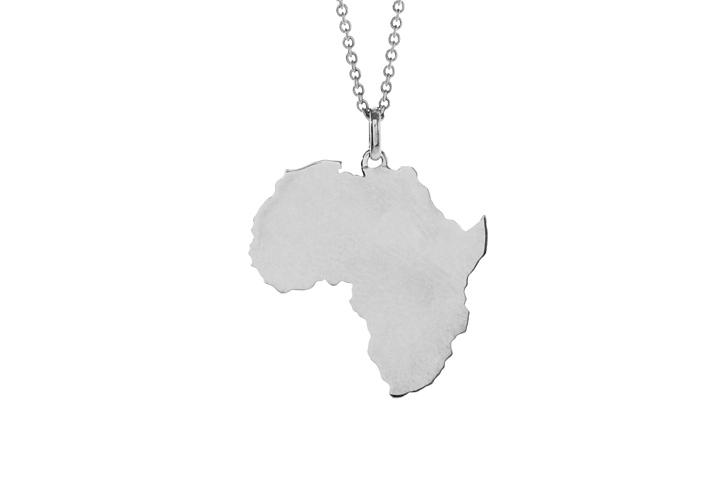 Africa Pendant in Sterling Silver (med)