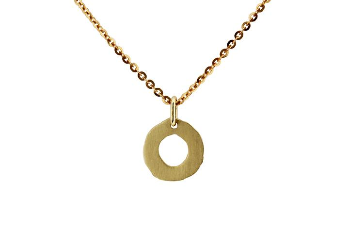 18ct Yellow Gold Mini Doughnut Disc Pendant
