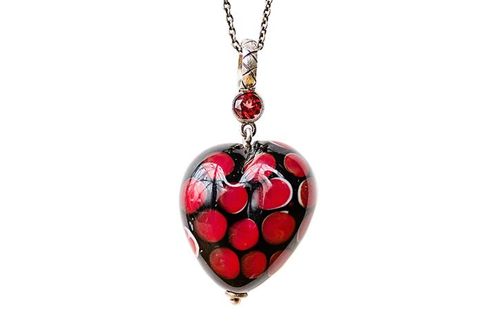 Glass Heart Pendants - 50% OFF!