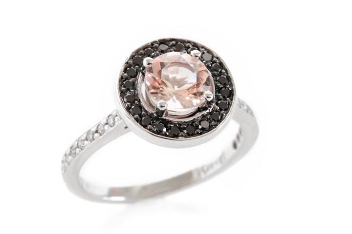 18ct white gold morganite and ring 50
