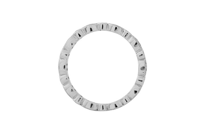 9ct White Gold and Diamond Vintage Style Eternity Ring
