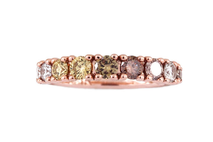 Ombre Diamond Ring in 14ct Rose Gold