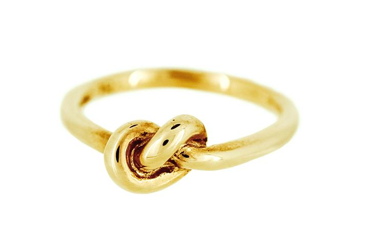 9ct Yellow Gold Knot Ring (medium)