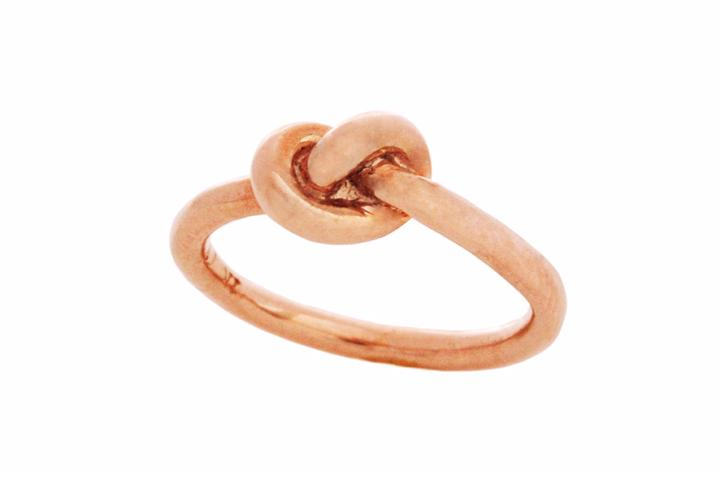Rose Gold Gilded Silver Knot Ring (medium)