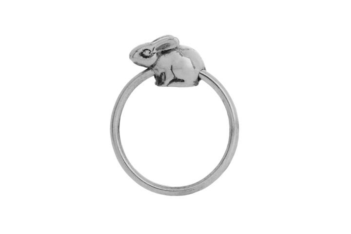 Silver Riverine Rabbit slider ring